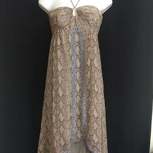 Rebecca Taylor Silk Snake Lace Bead Sequin Dress 2